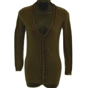Dex Cashmere Blend Hunter Green Cardy NWT- Sz XS